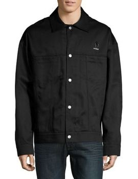 Long Sleeve Cotton Button Down Jacket by Fred Perry X Raf Simons