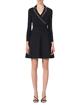 Suity Embellished Knit A Line Dress by Sandro