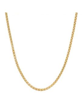 Lynx Men's Gold Tone Stainless Steel Wheat Chain Necklace by Lynx