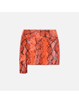 Kim Shui Snake Mini Skirt by Kim Shui