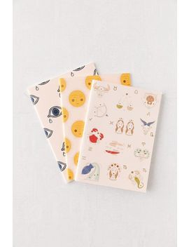 Graphic Notebook   Set Of 3 by Urban Outfitters