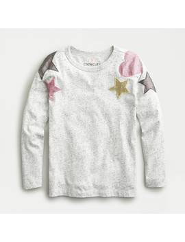 Long Sleeve T Shirt With Hearts And Stars Patches by J.Crew