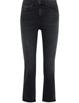 Stove Pipe Distressed High Rise Kick Flare Jeans by Rag & Bone