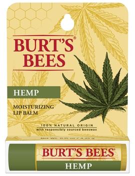 Burt's Bees 100% Natural Origin Moisturizing Lip Balm, Hemp With Beeswax   1 Tube by Burt's Bees
