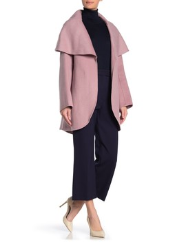 Marilyn Cape Overlay Wool Blend Coat by Tahari