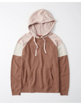 Colorblock Boyfriend Hoodie by Abercrombie & Fitch