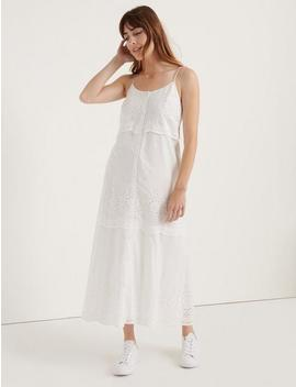 Pomegranate Eyelet Voile Tiered Dress by Lucky Brand