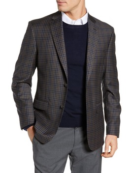 Classic Fit Check Wool Sport Coat by Jb Britches