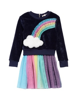 Rainbow Sweatshirt & Tulle Dress Set by Truly Me