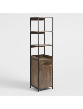 Wood And Metal Modular Isaiah Bookshelf With Cabinet by World Market