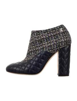 Quilted Tweed Ankle Boots by Chanel