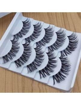 💙5 Pair 3 D Mink False Eyelashes Wispy Cross Long Thick Soft Fake Eye Lashes💙 Uk by Ebay Seller