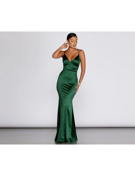 Darya Satin Evening Gown by Windsor
