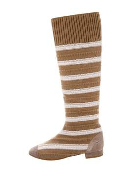 Striped Knit Boots W/ Tags by Chanel