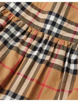 Livia Check Sun Dress, Size 3 14 by Burberry