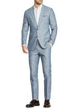 Flat Front Solid Cotton Trousers by Bonobos