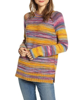 Space Dye Roll Neck Sweater by Caslon