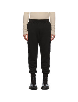 Black Cotton Cashmere Cargo Pants by Alanui