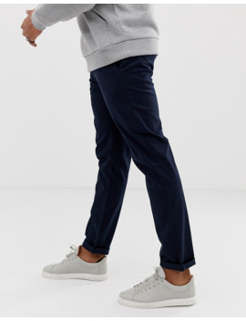 Asos Design 2 Pack Slim Chinos In Navy &Amp; Stone Save by Asos Design