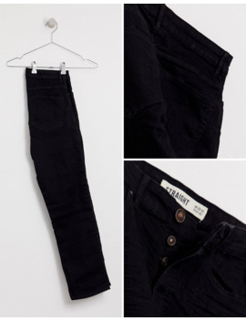 New Look Straight Jeans In Black by New Look