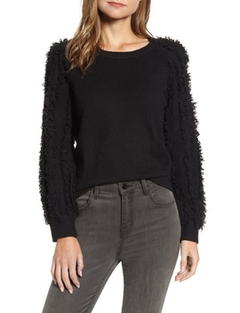 Fringe Sleeve Sweater by 1.State