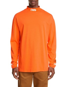 Ctnmb Mock Neck Long Sleeve T Shirt by Heron Preston