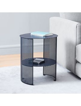 perforated-metal-side-table by west-elm