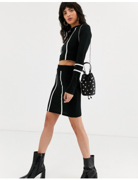 Asos Design Cropped Two Piece Sweater With Tipping Detail by Asos Design