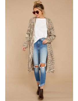 Just Before Dawn Light Brown Multi Cardigan by Storia