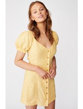 Woven Aurora Short Sleeve Mini Dress by Cotton On
