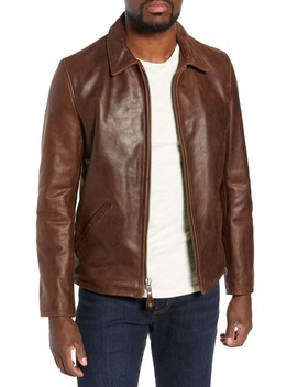 Waxy Naked Buffalo Leather Delivery Jacket by Schott Nyc