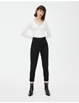 Pantalón Chino Sarga by Pull & Bear