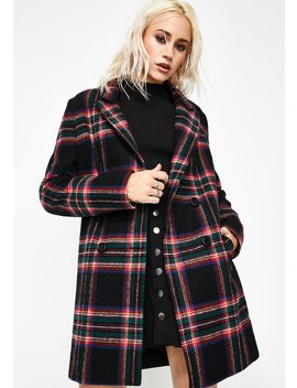 Mutual Disrespect Plaid Coat by Current Mood