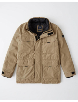 Puffer Mock Jacket by Abercrombie & Fitch