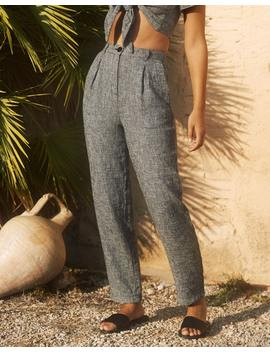 Linen Blend Textured Pant by Glassons