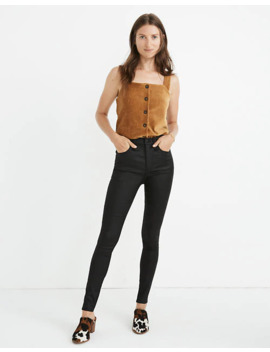 """petite-10""""-high-rise-skinny-jeans:-coated-edition by madewell"""