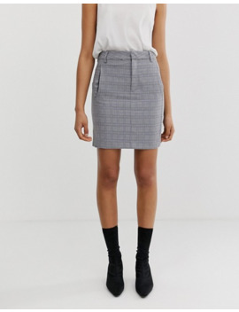 In Wear Una Check Tailored Two Piece Skirt by Asos