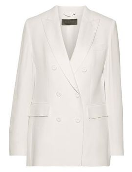Double Breasted Washed Crepe Blazer by Max Mara