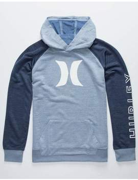 hurley-dri-fit-solar-icon-blue-boys-lightweight-hoodie by hurley