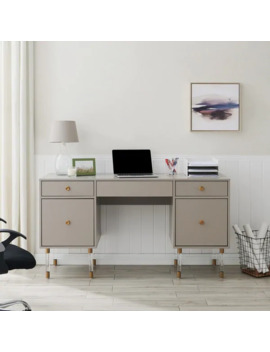 Holly & Martin Helston Gray Writing Desk by Holly & Martin