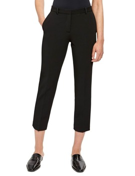 Flat Front Crop Tailored Trousers by Theory