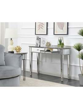 Silver Orchid Talmadge Mirrored Desk Vanity   Weathered Gray by Silver Orchid