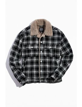 Bdg Plaid Sherpa Corduroy Bomber Jacket by Bdg