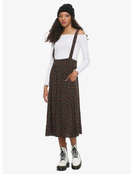 Roses Midi Suspender Skirt by Hot Topic