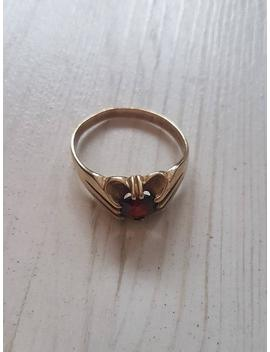 9ct Gold And Garnet Vintage Ring. Men's / Ladies. 1960's 1970's by Etsy
