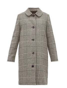 Peel Single Breasted Houndstooth Wool Coat by A.P.C.