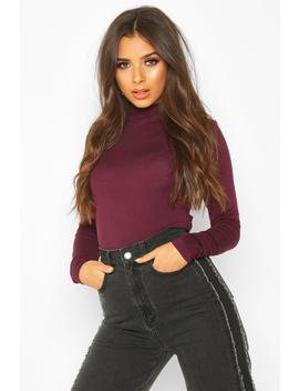 Basic High Neck Long Sleeve Top by Boohoo