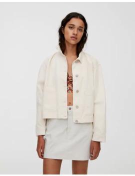Minifalda Textura Cinco Bolsillos by Pull & Bear