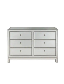 "Dresser 6 Drawers 48""W X 18""D"" X 32""H In Antique Silver Paint by Generic"
