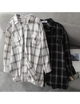 Hanji   Oversized Plaid Shirt by Hanji